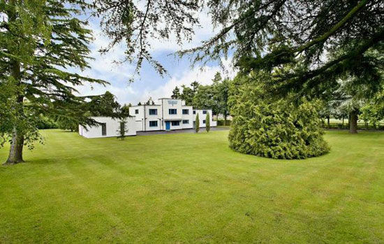 On the market: 1930s Charles Riddy-designed Foxfield art deco property in Quinton, Northamptonshire