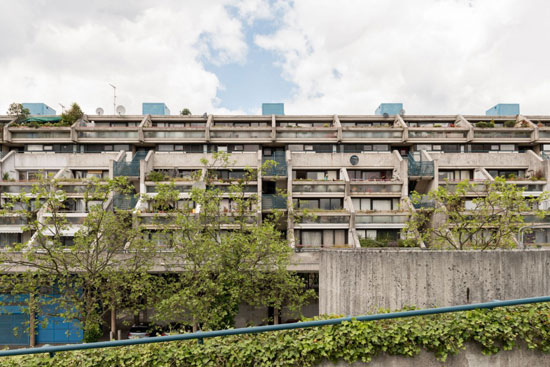 1970s Neave Brown-designed brutalist duplex apartment in Rowley Way, London NW8