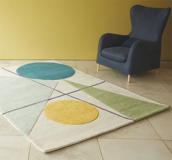 Design spotting: Forma midcentury-inspired rug at Habitat