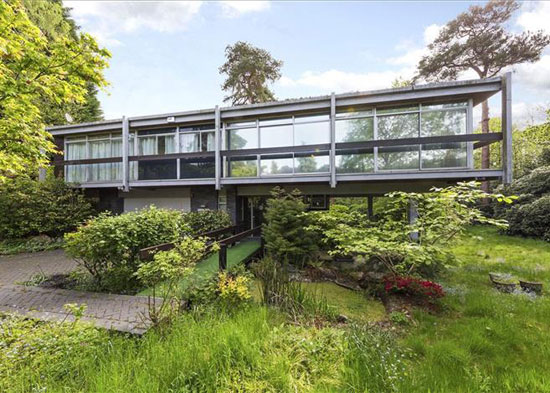 Price drop: Rumba Panjai 1960s modernist property in St George's Hill, Weybridge, Surrey