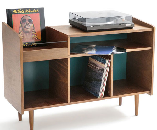 Ronda 1960s-style record storage unit at La Redoute