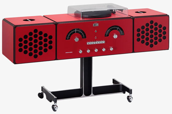 Iconic Brionvega Radiofonografo record player is back in red