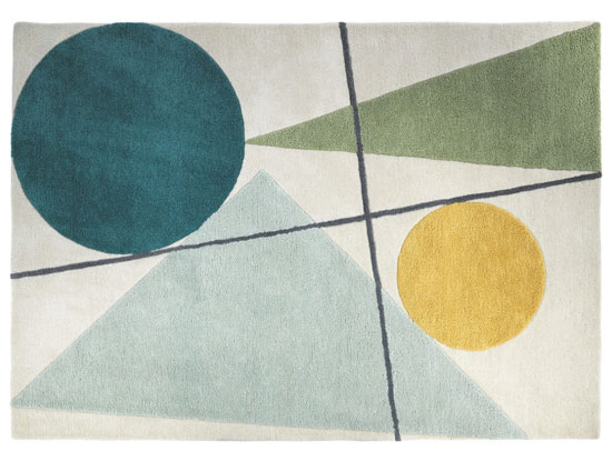 Design spotting: Forma midcentury-inspired rug at Habitat