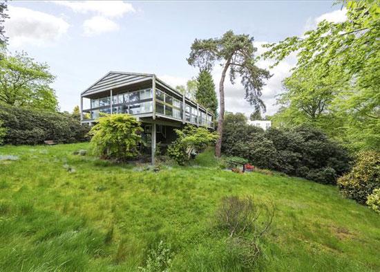 Rumba Panjai 1960s modernist property in St George's Hill, Weybridge, Surrey