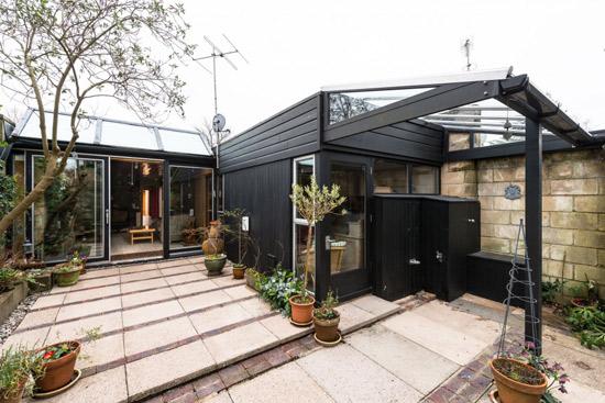 1960s modernist house on the Cockaigne Housing Group development in Hatfield, Hertfordshire