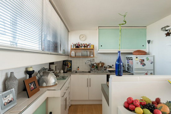 1970s Neave Brown-designed brutalist apartment in Rowley Way, London NW8