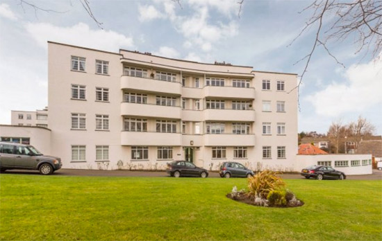 On the market: Three-bedroom apartment in the Ravelston Garden art deco building in Ravelston, Edinburgh