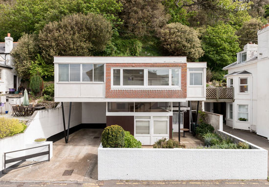 On the market: 1960s John Floydd-designed midcentury-style Scan House in Sandgate, Kent