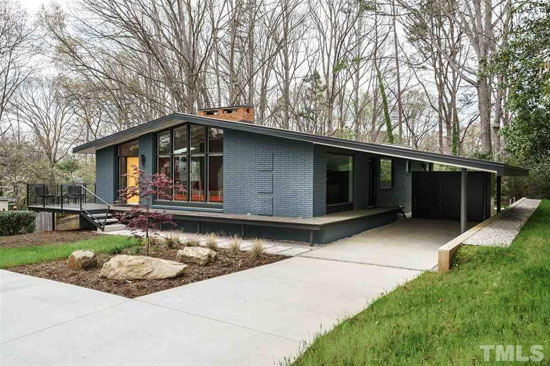 1950s midcentury modern: Four-bedroom property in Raleigh, North Carolina, USA