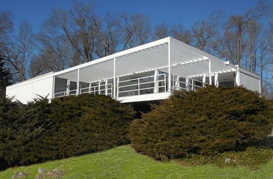 1960s John Johnasen-designed modernist property in Redding, Connecticut, USA