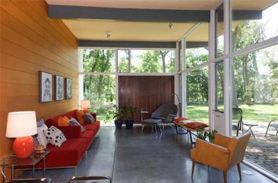 1940s Norman and Jean Fletcher-designed modernist property in Lexington, Massachusetts