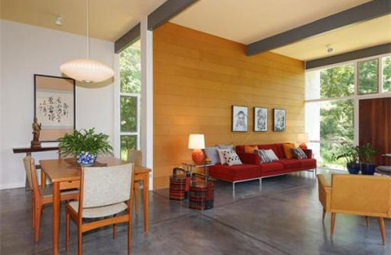 1940s Norman and Jean Fletcher-designed modernist property in Lexington, Massachusetts
