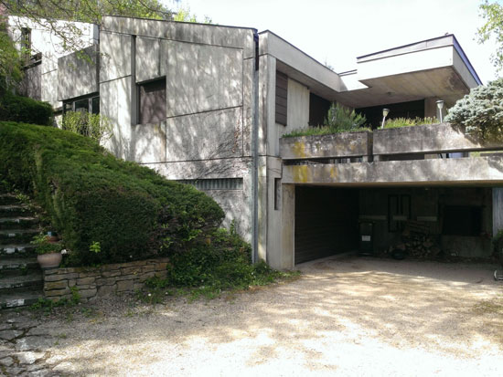 1970s brutalist property in Couzon-au-Mont-d'Or, Rhone, eastern France