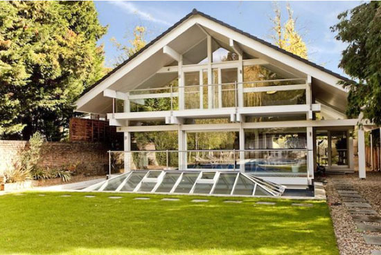 Six-bedroom modernist Huf Haus in Kingston Upon Thames, Surrey