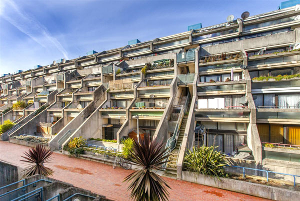 1970s Neave Brown brutalist apartment in Rowley Way, London NW8
