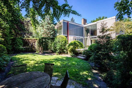 1950s Herman Haan midcentury modern house in Rotterdam, Holland