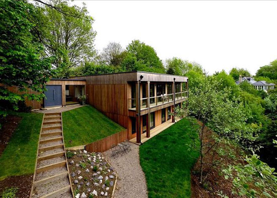 Birch House contemporary modernist property near Bath, Somerset
