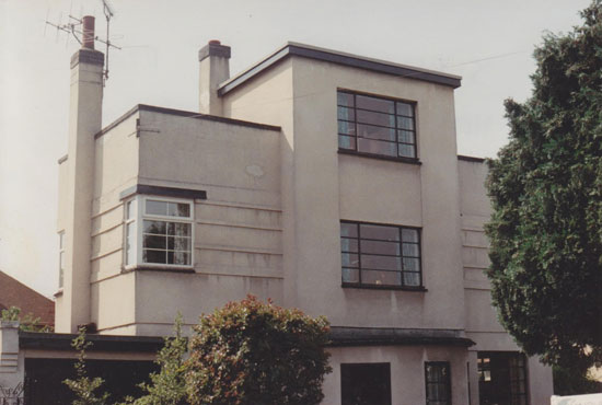 The pre-restoration 1930s art deco property in Shrewsbury, Shropshire