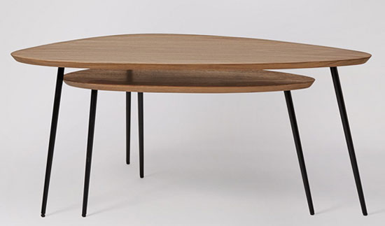Sills midcentury-style coffee table set at Swoon Editions