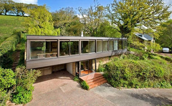 On the market: Bryan Tanner-designed Dominoes 1960s modernist property in Stoke Gabriel, Devon