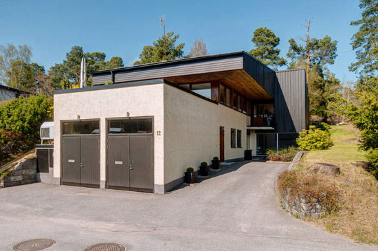 1970s modernist property in Saltsjo-Boo, near Stockholm, Sweden