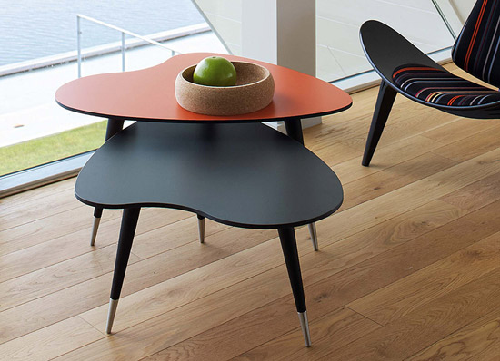 Strawberry Retro tables by Danish Retro