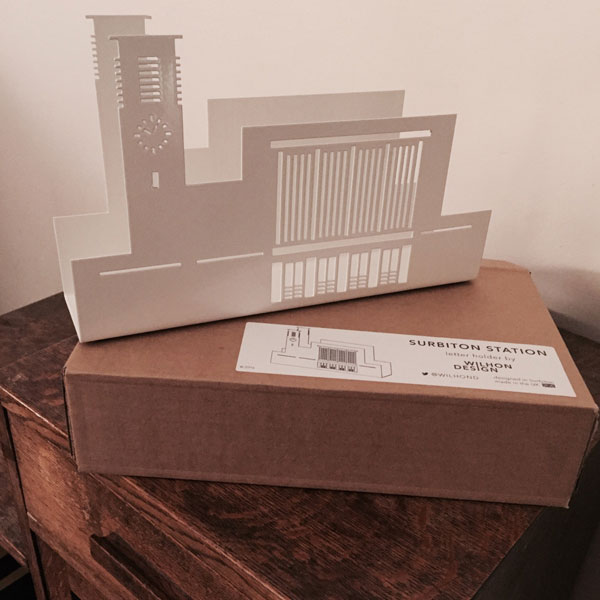 Art deco in miniature: Surbiton Station letter holder by Wilhon Design