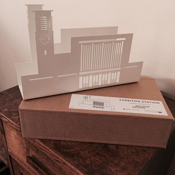 Art deco in miniature: Surbiton Station letter holder by Wilhon Design