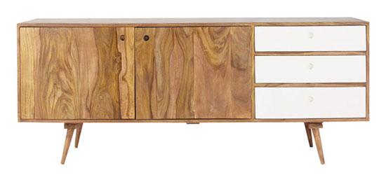 Midcentury interior: Andersen sideboard range at Maisons Du Monde