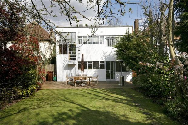 1930s Connell, Ward and Lucas-designed grade II-listed modernist house in Worcester Park, Kingston Upon Thames, Surrey