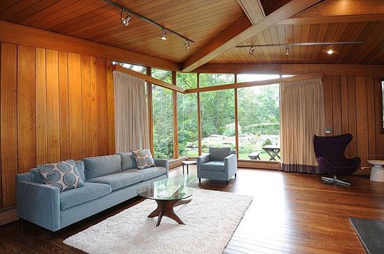 1950s David Henken-designed midcentury modern property in Pound Ridge, New York State, USA