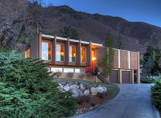 1960s midcentury modern property in Salt Lake City, Utah, USA