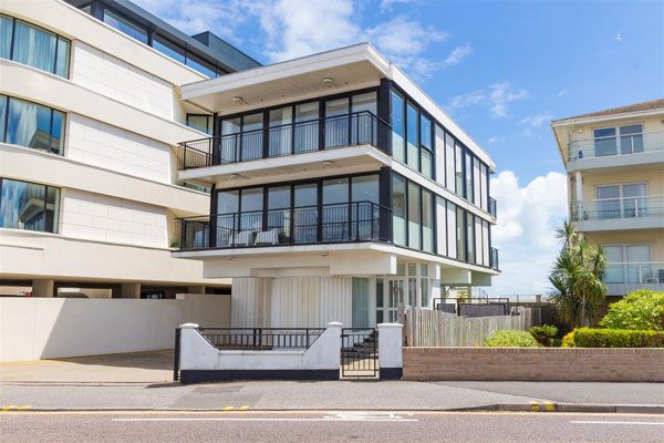 1970s modern house in Sandbanks, Poole, Dorset