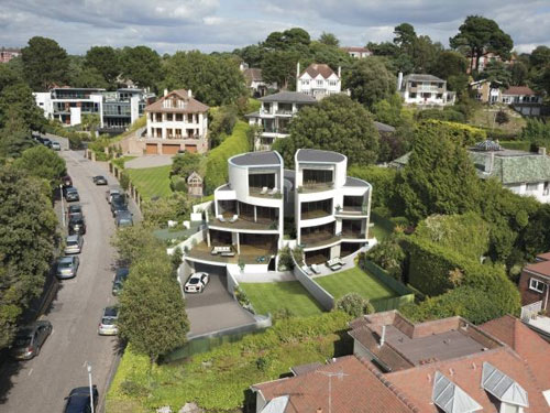 Futuristic four-bedroomed house in Sandbanks, Poole, Dorset