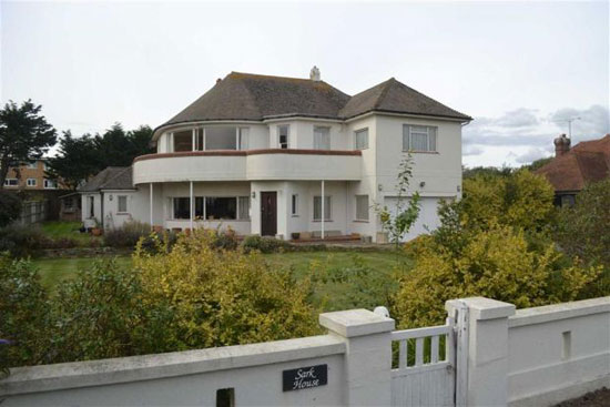 1930s Sark House art deco property in Rustington, West Sussex
