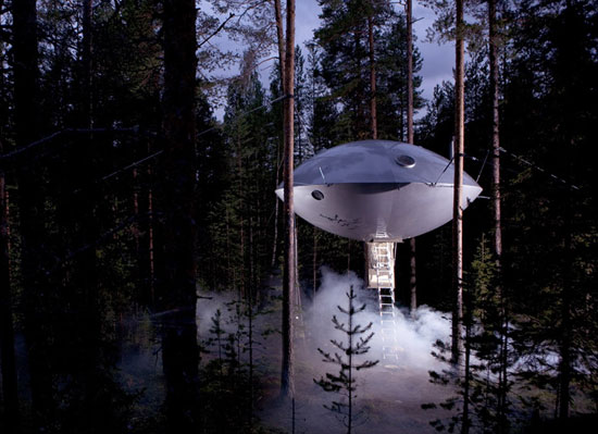 The UFO at the Treehotel, Harads, Sweden