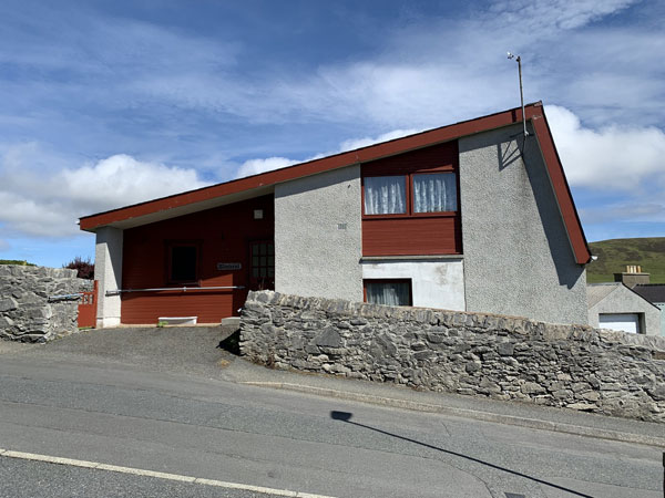 1960s modern house in Scalloway on the Shetland Islands, Scotland