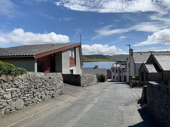 1960s modern house in Scalloway on the Shetland Islands, Scotland