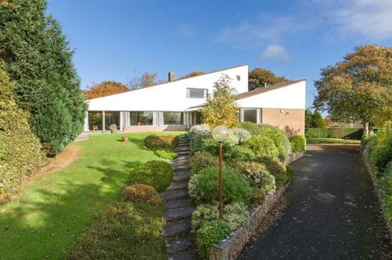 The Quarry 1960s Morris & Steedman modernist property in Gullane, East Lothian, Scotland