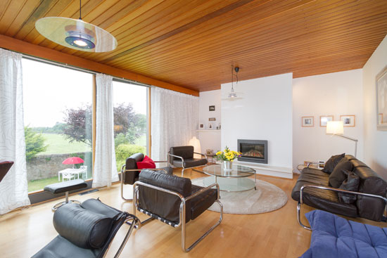 1960s modernist property in Ayr, South Ayrshire, Scotland