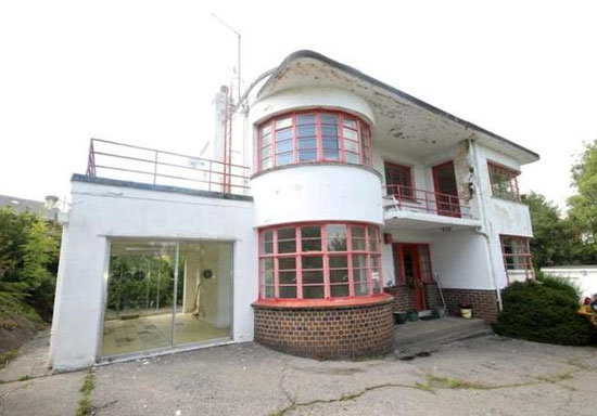 Shangri La grade II-listed art deco property in Pontllanfraith, Caerphilly, South Wales