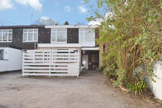 On the market: 1960s Bernard Ruggieri-designed terraced property in Shepperton, Middlesex