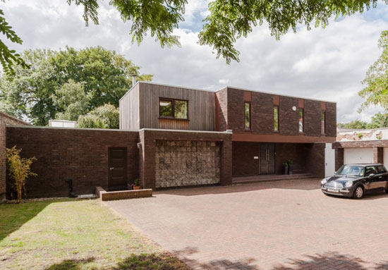 On the market: 1970s E. G. Fisher & Associates-designed modernist property in Old Shepperton, Surrey