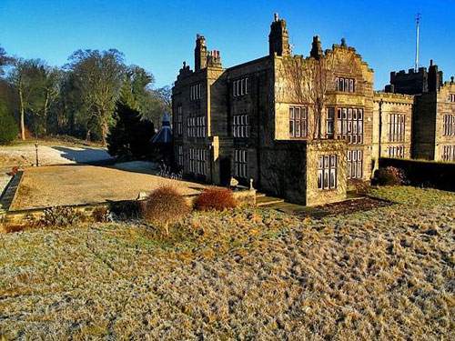 Gothic grade II-listed Huntroyde Hall in Simonstone, near Burnley, Lancashire