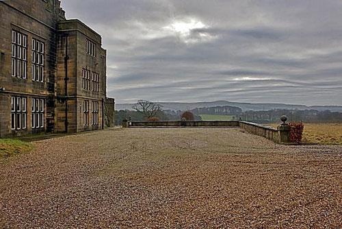 Gothic grade II-listed Huntroyde Hall in Simonstone, near Burnley, Lancashire