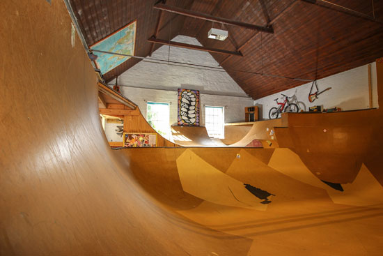 House with skate park in Terrington St Clement, Norfolk