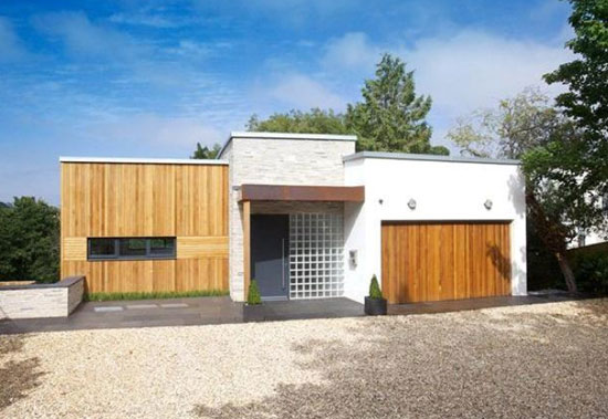 Skywood contemporary modernist property in Budleigh Salterton, Devon