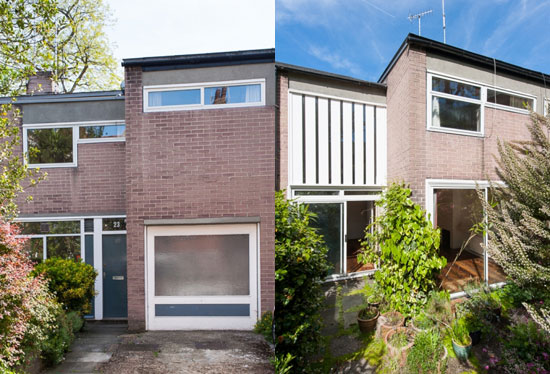 On the market: Unrestored 1960s Harley Sherlock-designed three-bedroom property on the Southwood House Estate, London N6