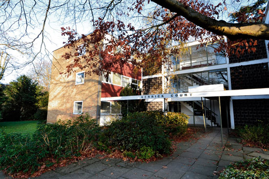 In need of renovation: Two-bedroom apartment in the 1950s Eric Lyons-designed Parkleys development in Ham, Richmond, Surrey