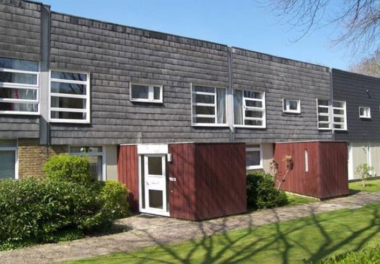 On the market: 1960s Eric Lyons-designed three-bedroom Span House in New Ash Green, Longfield, Kent